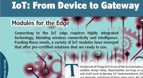 IoT: From Device to Gateway