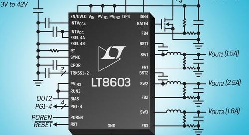 Power Switching Regulator Has Boost and 3x Buck Capabilities