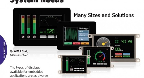 Displays Fit Diverse Embedded System Needs