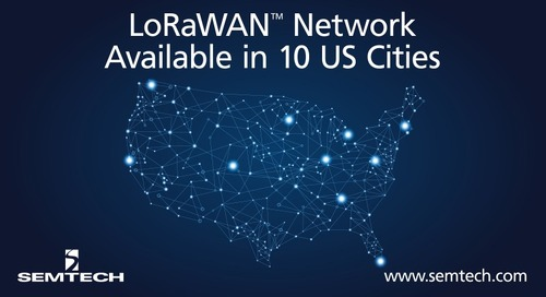 Firms Team to Enable LoRaWAN Availability in 10 Cities