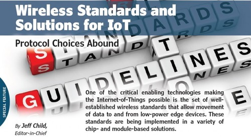 Wireless Standards and Solutions for IoT