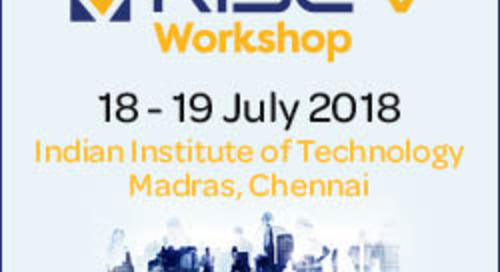 Come to the RISC-V Workshop July 18-19