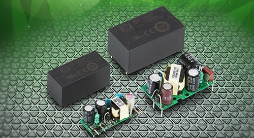 Compact Board-Mount Power Supplies Target IoT Systems