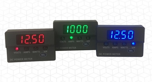 DC Panel Meters Display Voltage, Current and Power