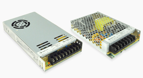 Chassis Mount AC-DC Supplies Feature Low Profile Metal Case