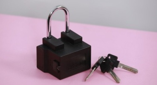 Connected Padlock Uses U-Blox BLE and Cellular Modules