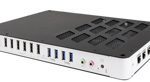 Slim Signage Player Features Radeon E8860 GPU and 6 HDMI Ports