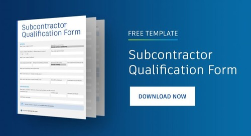 Subcontractor Qualification Best Practices [Free Qualification Form Template]