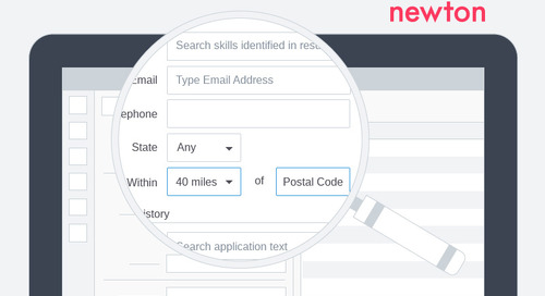 Newton Announces Powerful New Candidate Search Capabilities