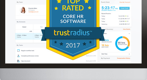 Paycor Named a 2017 Top Rated Core HR Software Platform by Users on TrustRadius for the Second Consecutive Year