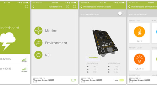 Connecting wireless sensor nodes to the cloud with the Thunderboard Sense kit