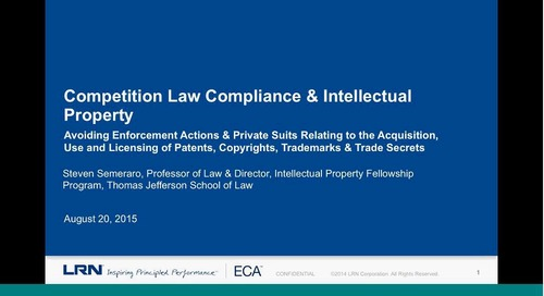 Competition Law Compliance & Intellectual Property