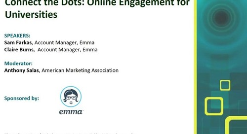 Connect the Dots: Online Engagement for Universities