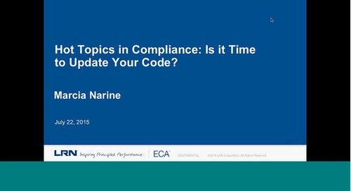 Hot Topics in Corporate Compliance: Is It Time to Update your Code of Conduct