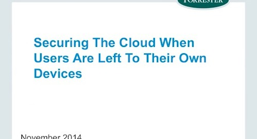 Securing the Cloud When Users are Left to Their Own Devices