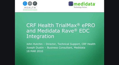 TrialMax® ePRO and Medidata Rave® EDC Integration