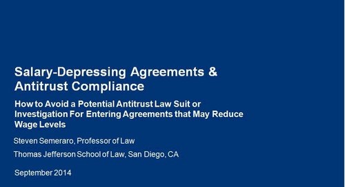 Salary Depressing Agreement and Antitrust Compliance