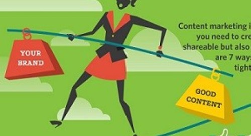 Walking the Content Tightrope:  How to Create Content That Is Shareable and Trustworthy [Infographic]