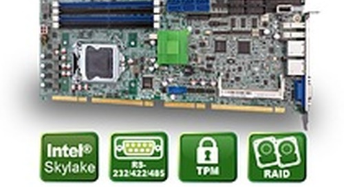 Flexible, modular Skylake PICMG 1.3 CPU card from ICP Deutschland