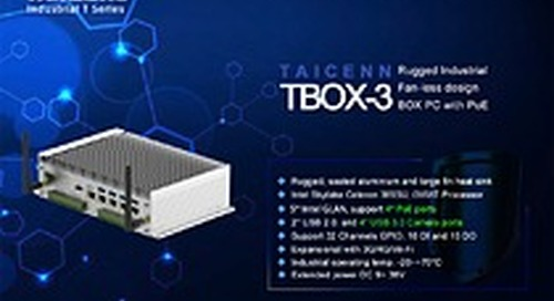 TAICENN new released industrial fan-less PoE BOX PC with DIO interface.