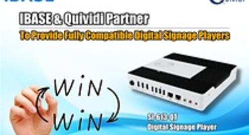 IBASE and Quividi Partner to Provide Fully Compatible Digital Signage Players