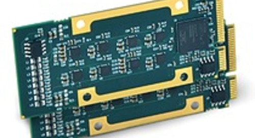 Acromag's new high-speed D/A converter voltage waveform output mezzanine board