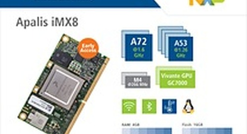 Toradex opens Early Access for the Apalis iMX8 with the NXP i.MX 8QuadMax SoC