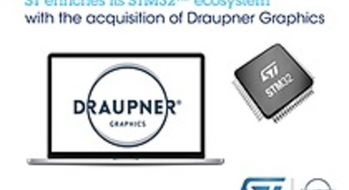 STMicroelectronics acquires graphical user interface software specialist Draupner Graphics