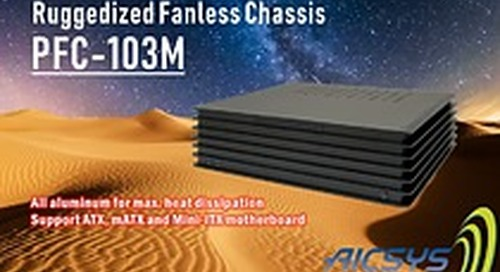 AICSYS Inc. PFC-103M: Ruggedized Aluminum Fanless Chassis with 3 drive bays support ATX motherboard