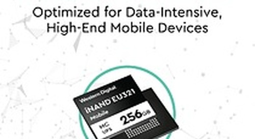 Western Digital Releases Industry's First 96-Layer 3D NAND UFS 2.1 Embedded Flash Drive for High-End Smartphones