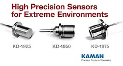 Kaman Measuring Announces Extreme Environment Displacement Sensors and Systems for High Pressure, Low Temperature, and High Temperature Apps