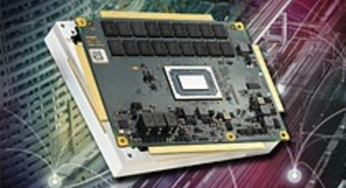 Rugged COM Express Module with AMD V1000
