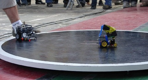 Show off your robotic prowess with robot-sumo competitions