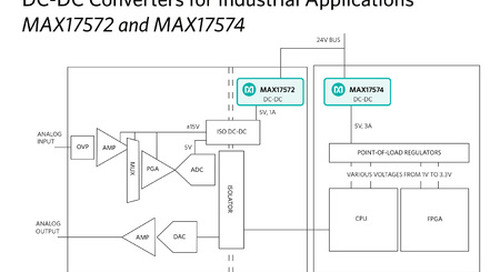 Maxim's Himalaya Step-Down DC-DC Converters Push the Envelope for IIoT
