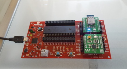 IoT over BLE in 10 minutes with Microchip Curiosity and MikroElektronika Clicks