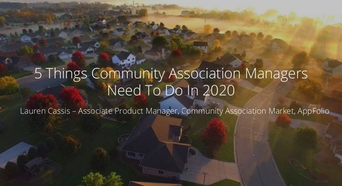 5 Things Community Association Managers Need To Do In 2020