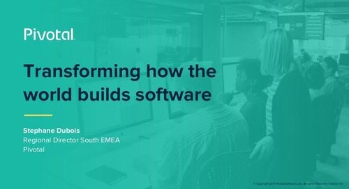 Transforming How the World Builds Software (Pivotal Cloud-Native Workshop: Milan)