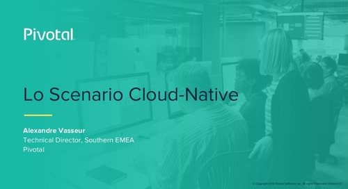 Lo Scenario Cloud-Native (Pivotal Cloud-Native Workshop: Milan)