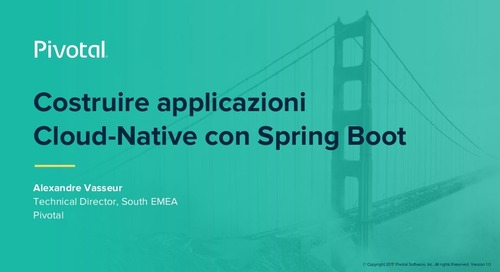 Costruire Applicazioni Cloud-Native con Spring Boot (Pivotal Cloud-Native Workshop: Milan)