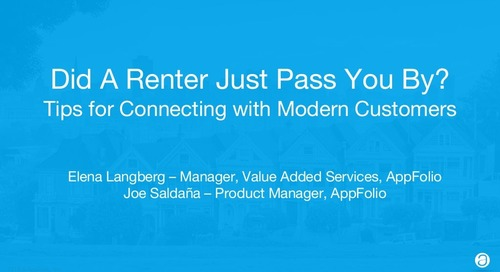 Did A Renter Just Pass You By? Tips For Connecting With The Modern Customer