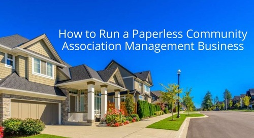 How to Run a Paperless Community Association Management Business