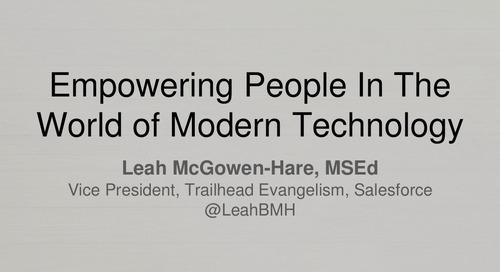Leah McGowen-Hare: SpringOne Platform Keynote