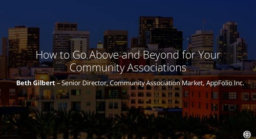 How to Go Above and Beyond for Your Community Associations