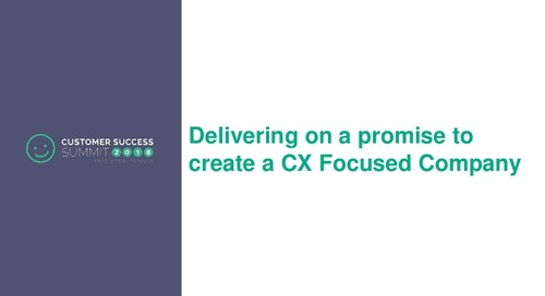 Creating a CX-Focused Company