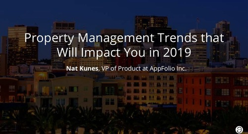 Property Management Trends that Will Impact You in 2019