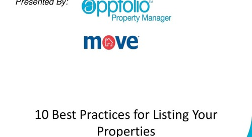 [AppFolio Webinar] 10 Best Practices for Posting Your Listings with Greg Fischer