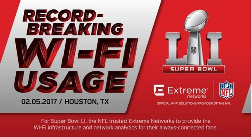 Record-Breaking Wi-Fi Usage at Super Bowl LI