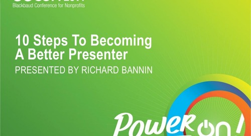 10 Steps to Becoming a Better Presenter