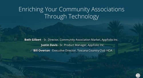Expert Panel: Enriching Your Community Associations Through Technology