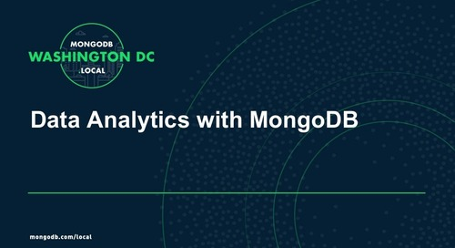 MongoDB.local DC 2018: Tutorial - Data Analytics with MongoDB